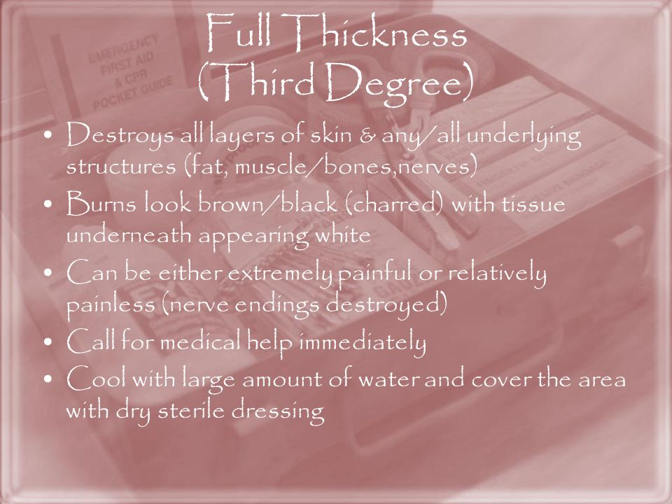 Full Thickness (Third Degree)