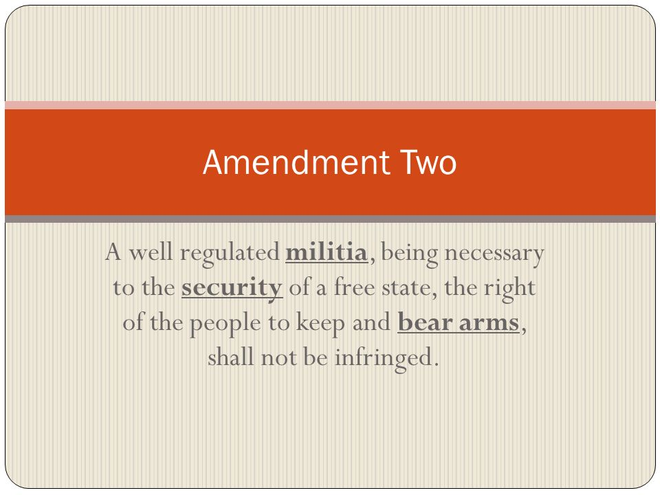 Amendment Two