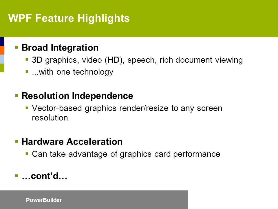 WPF For PowerBuilder Developers - ppt video online download