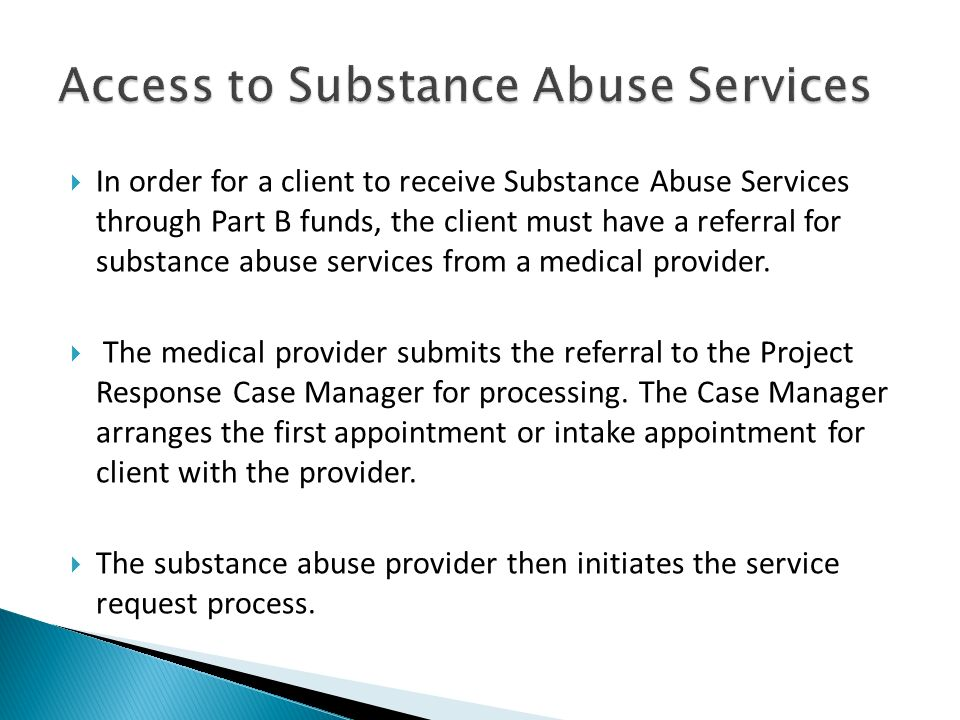 Access to Substance Abuse Services