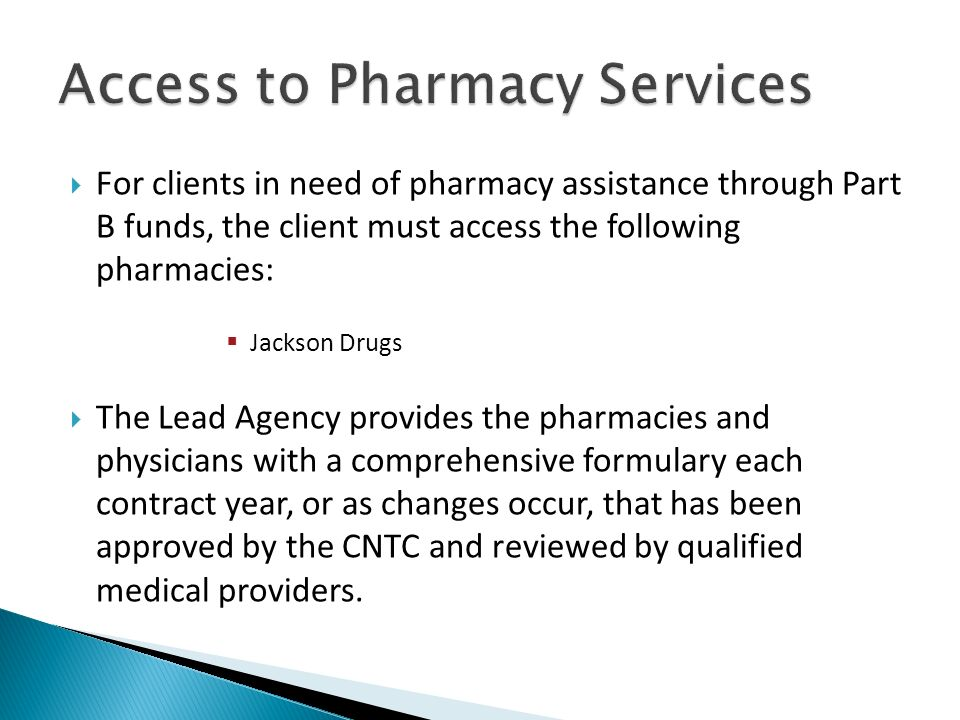 Access to Pharmacy Services