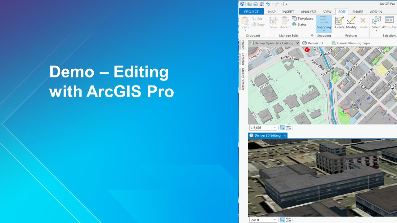 Editing With ArcGIS Pro - ppt video online download