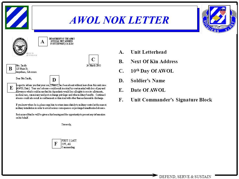8 awol nok letter