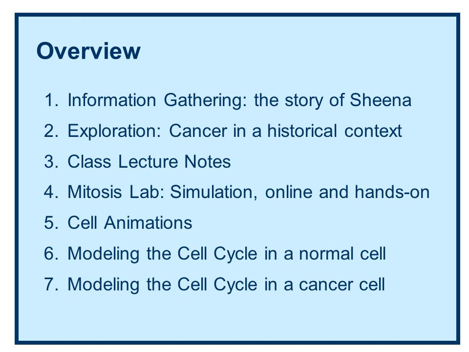 The Cell Cycle: A series of modeling activities - ppt video