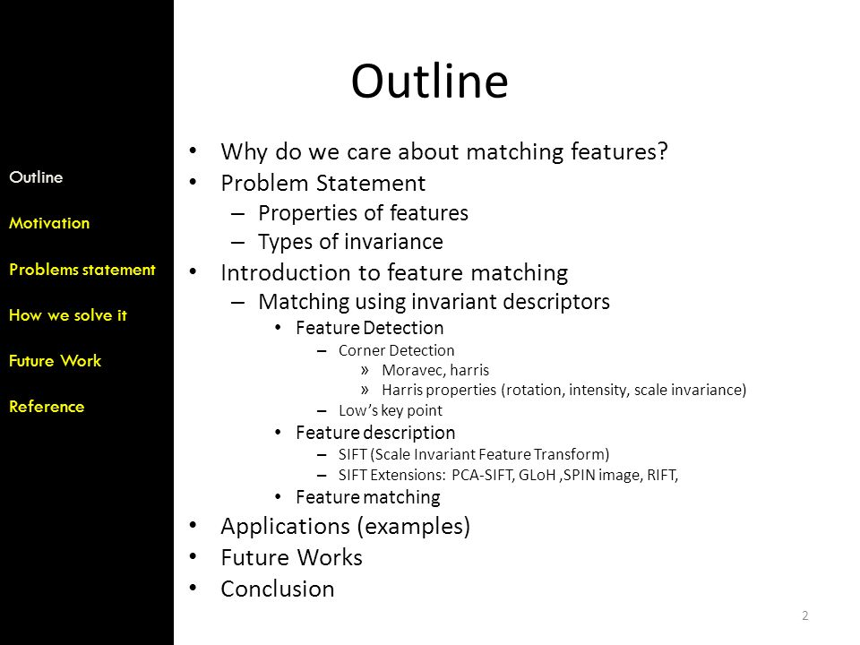 Local Invariant Features - ppt download