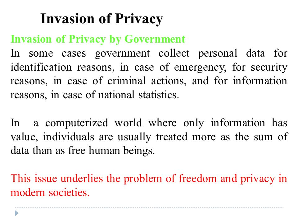 government invasion of privacy essay example Essay on internet privacy and security covering online business problems free essays to help students write their own essay  (orange county government, nd.