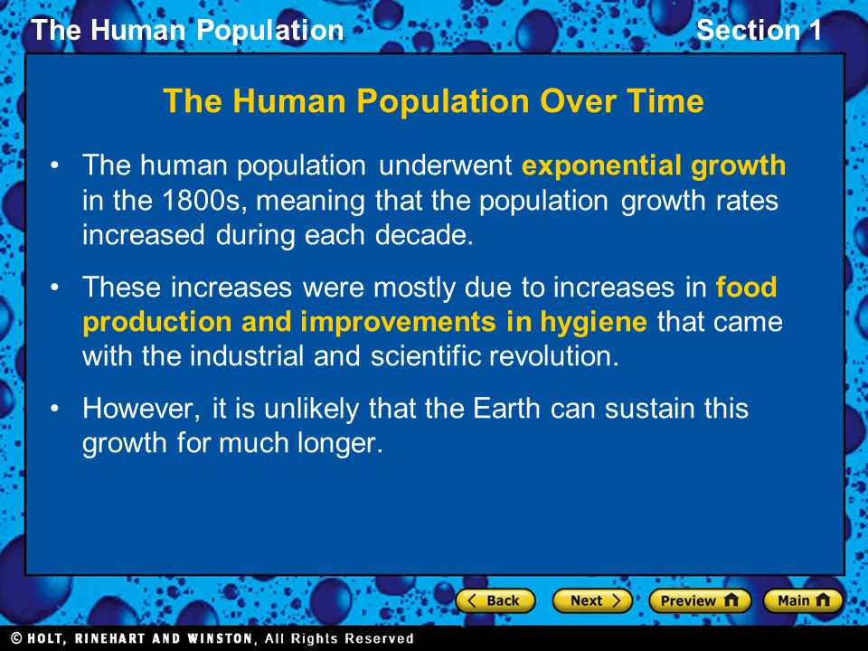 The Human Population Over Time