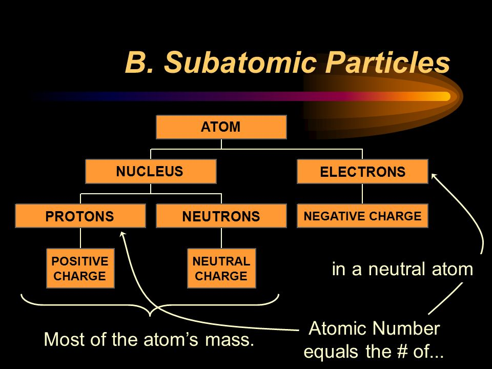 B. Subatomic Particles in a neutral atom Atomic Number
