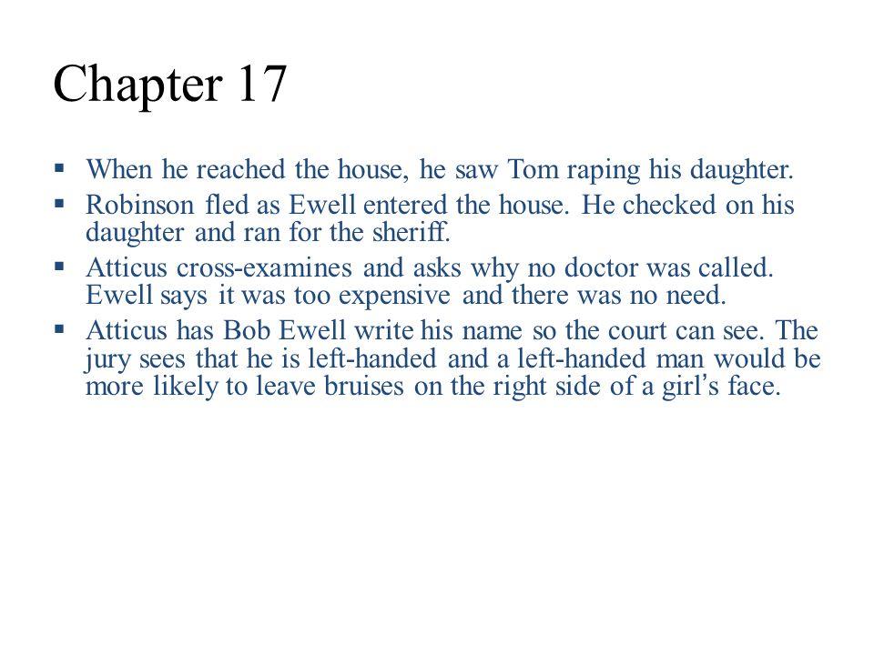 summary of chapter 17 in to kill a mockingbird