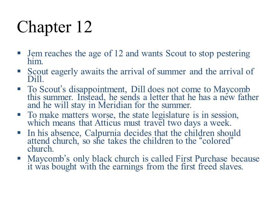 summary of chapter 12 to kill a mockingbird