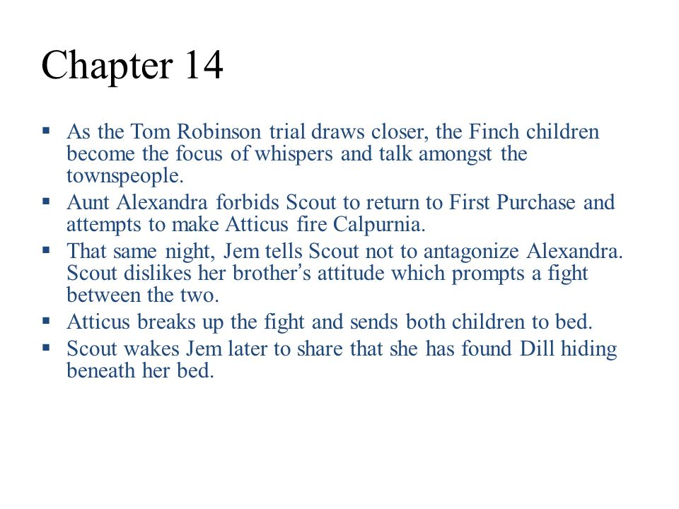 To Kill A Mockingbird Part II Chapters 12 31 Ppt Video