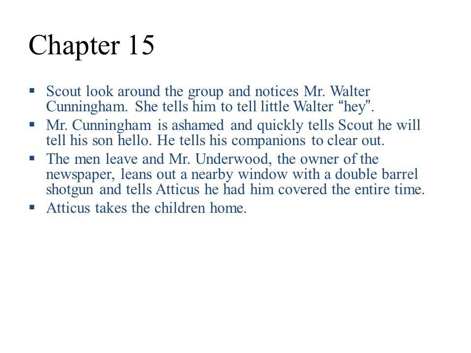to kill a mockingbird summary chapter 15 17