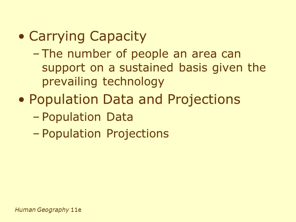 Population Data and Projections