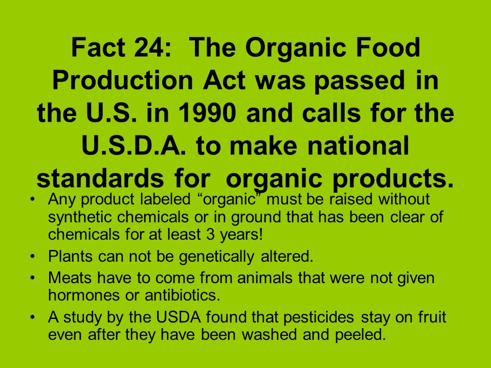 How Is Organic Food Labeled Number