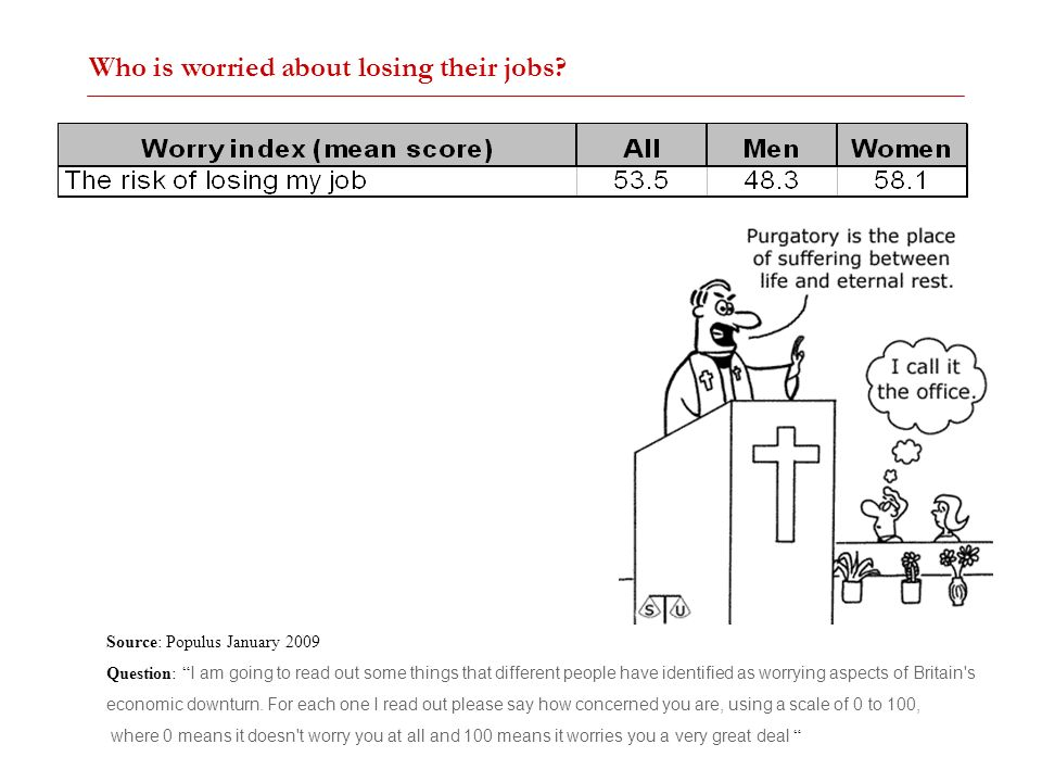 Who is worried about losing their jobs
