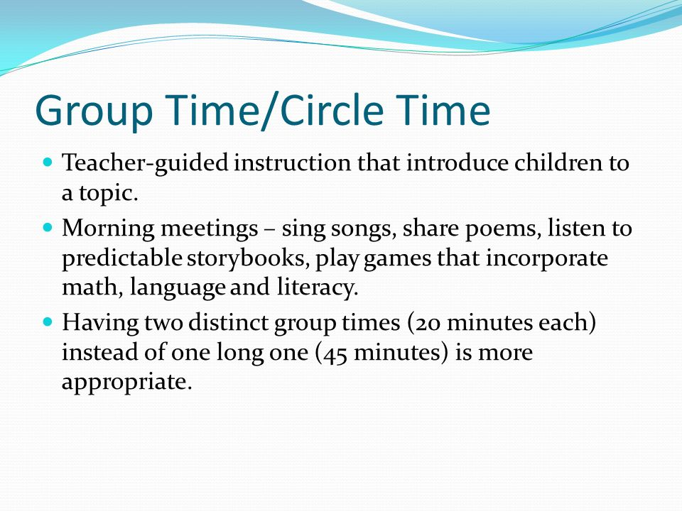 Group Time/Circle Time