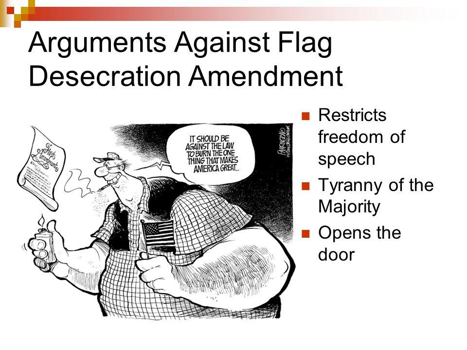 flag burning arguments