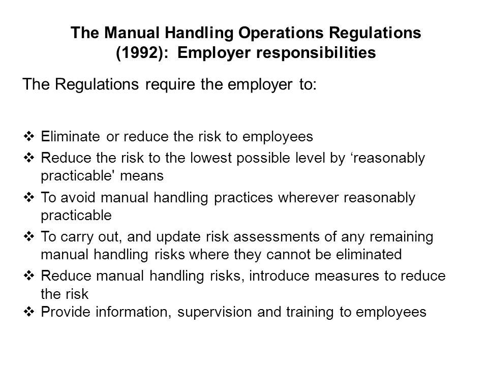 health and safety unit ppt download rh slideplayer com Manual Handling Training Presentation Manual Handling Ergonomics Posters