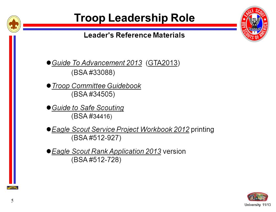Workbooks eagle scout service project workbook : Troop Leadership Focus - ppt video online download