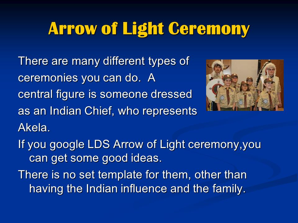Arrow Of Light Ceremony