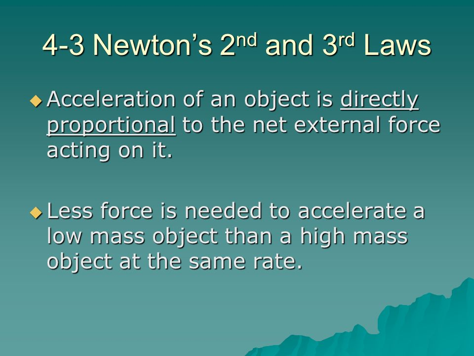 4-3 Newton's 2nd and 3rd Laws