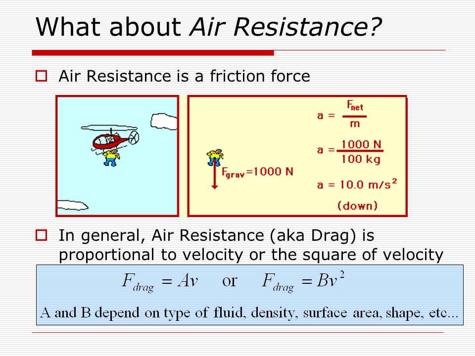What about Air Resistance