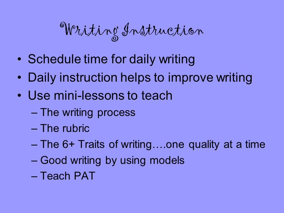 2 Writing Instruction