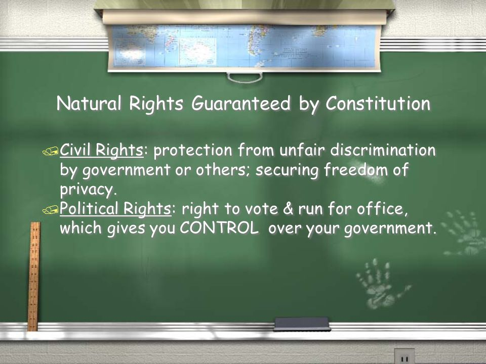 Natural Rights Guaranteed by Constitution