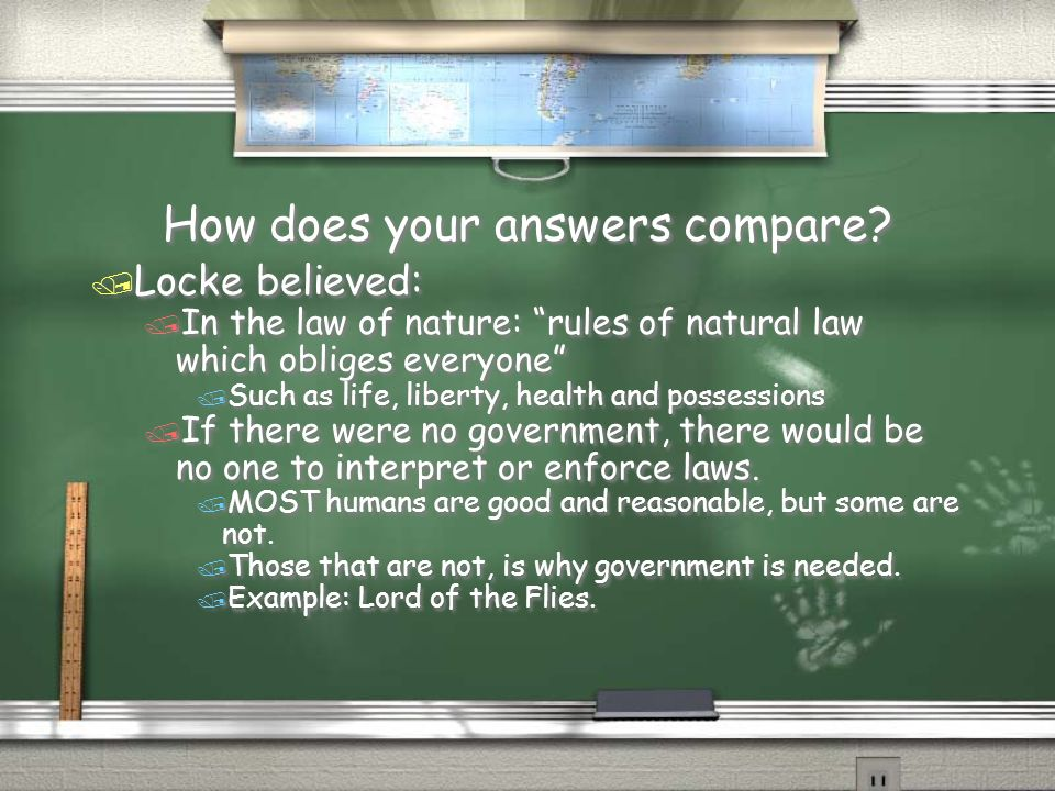 How does your answers compare