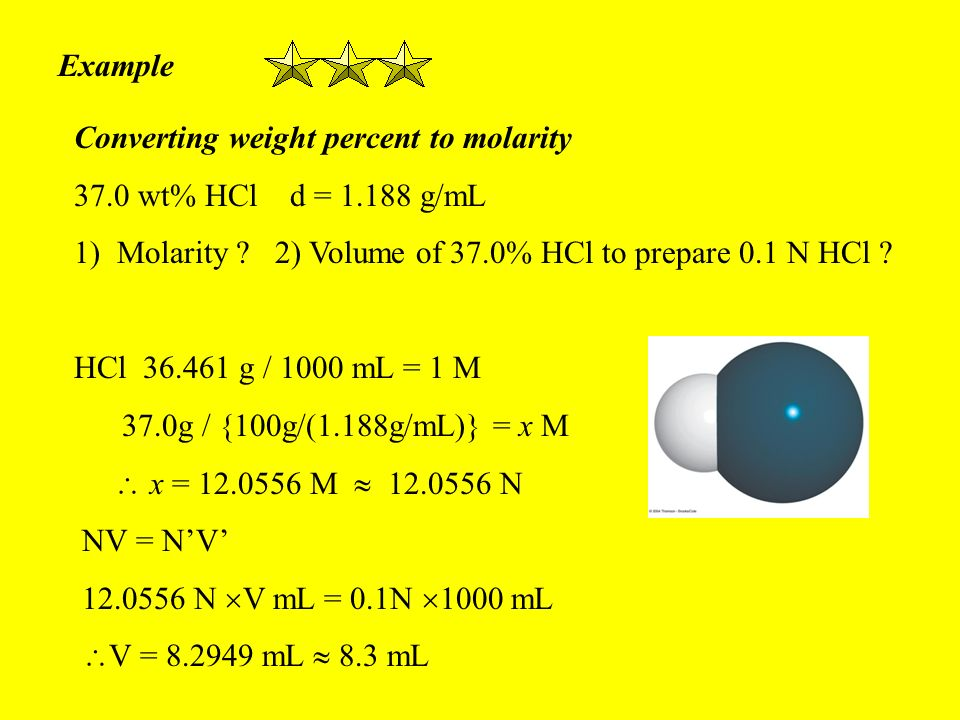 how to find molarity with density and volume
