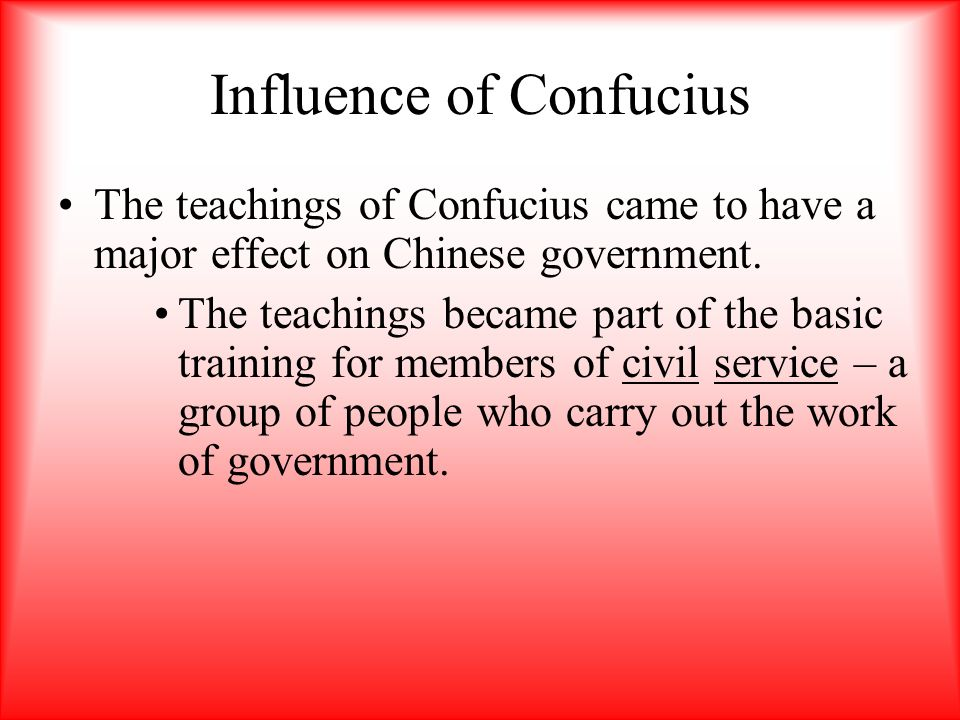 Influence of Confucius