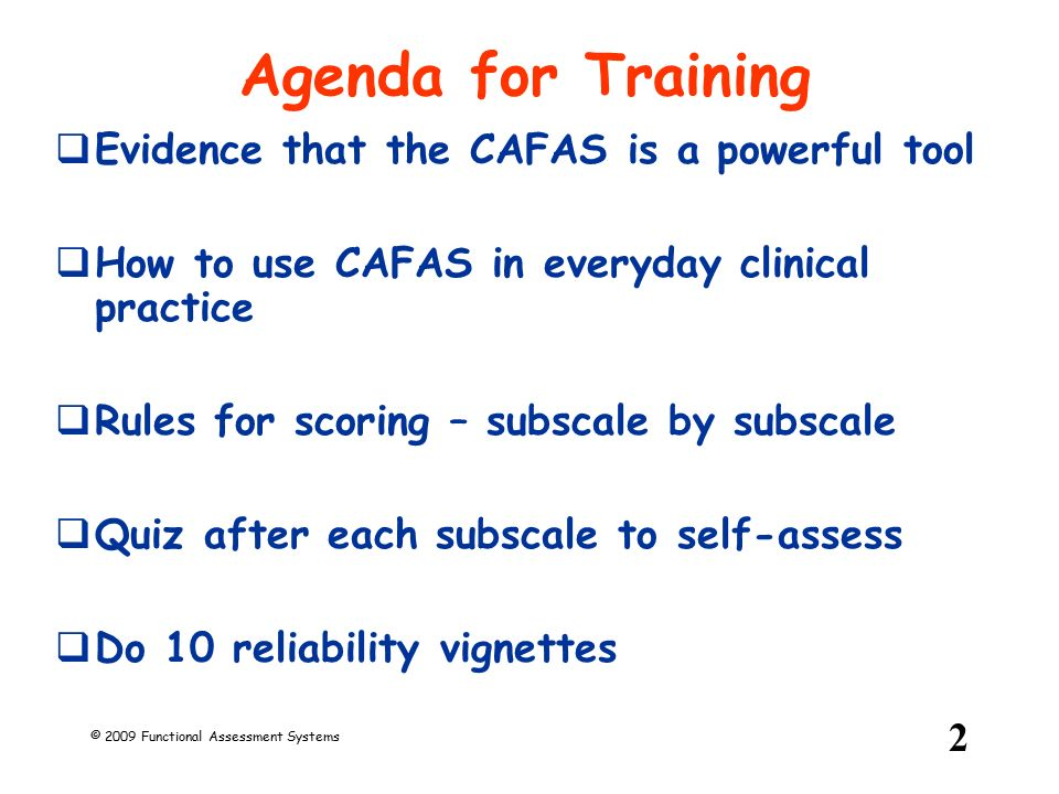 reliability training for raters on the cafas ppt download rh slideplayer com