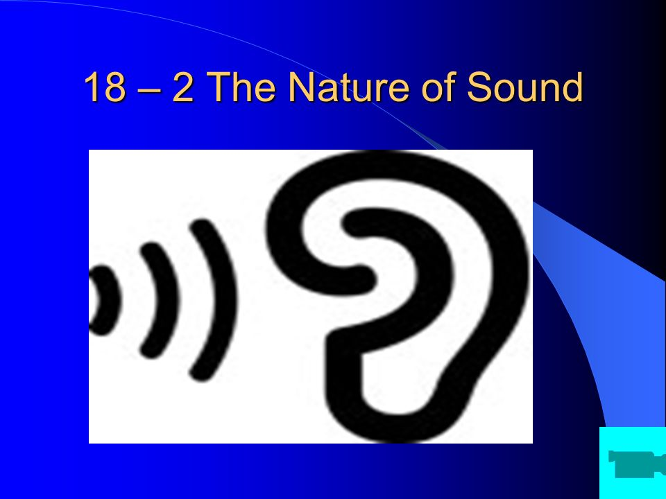 18 – 2 The Nature of Sound