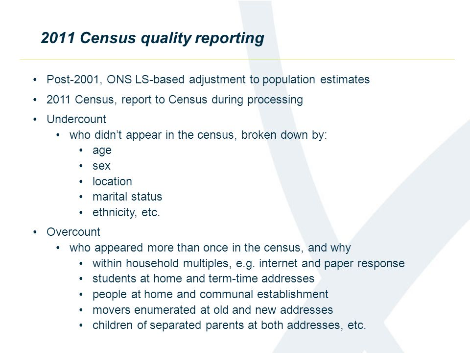 2011 Census quality reporting