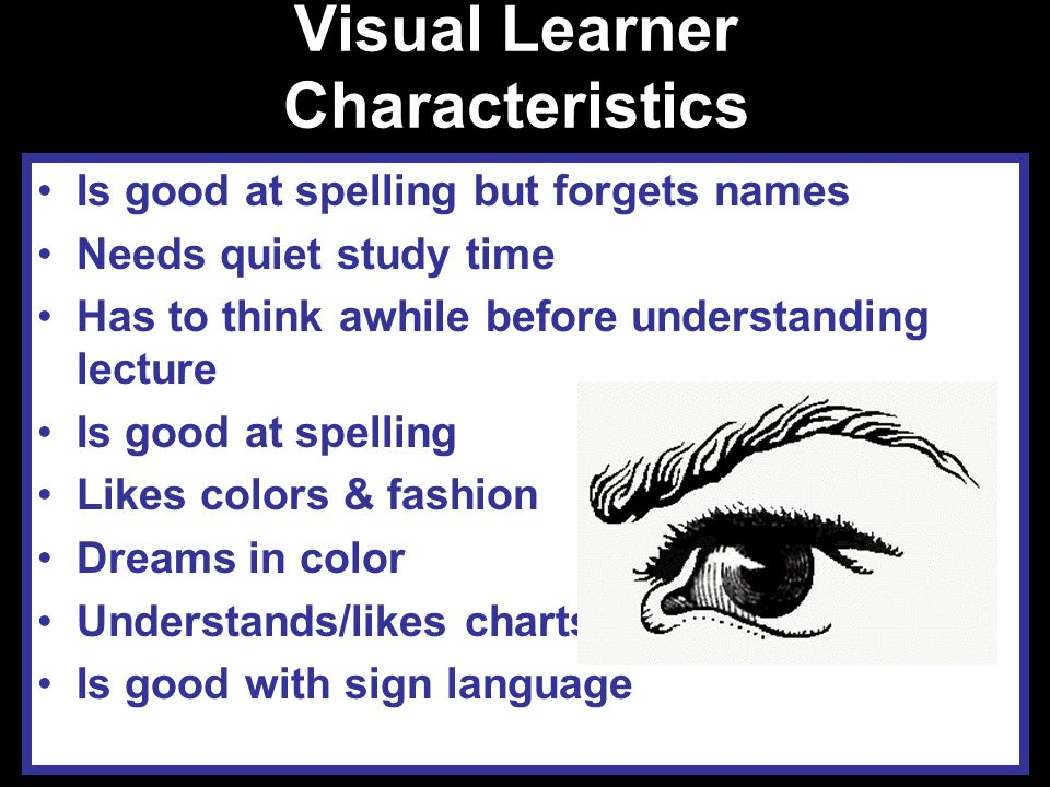 Visual Learner Characteristics