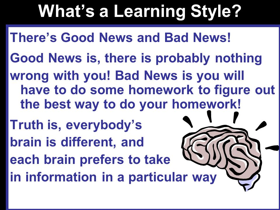 What's a Learning Style