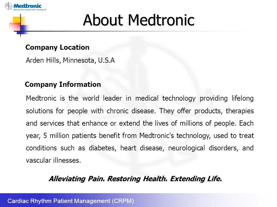 Internship Experience At Medtronic Inc  - ppt video online download