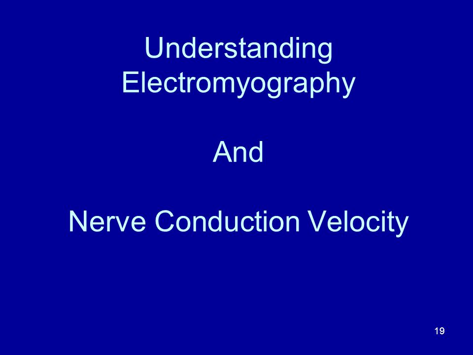 Understanding Electromyography And Nerve Conduction Velocity