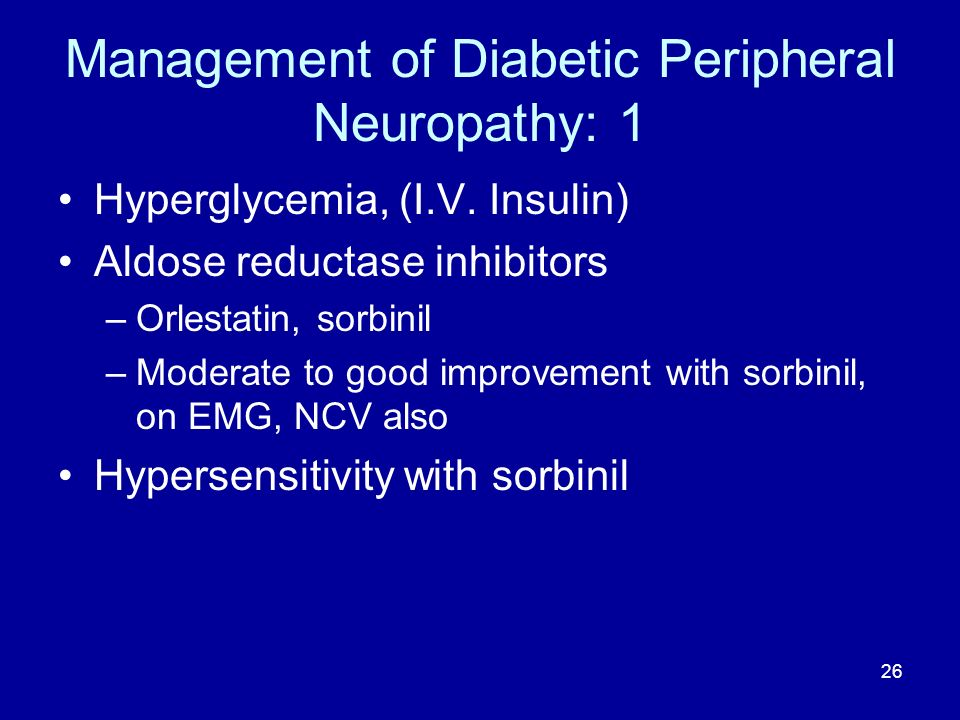 Management of Diabetic Peripheral Neuropathy: 1