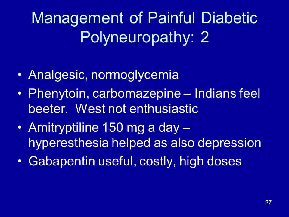 Management of Painful Diabetic Polyneuropathy: 2