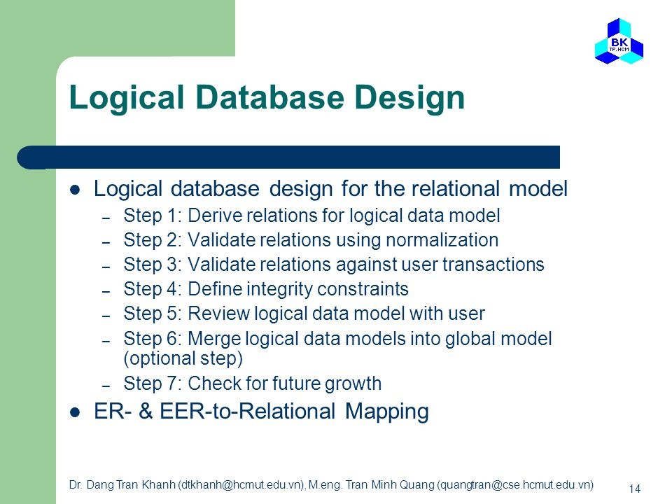 Logical Database Design