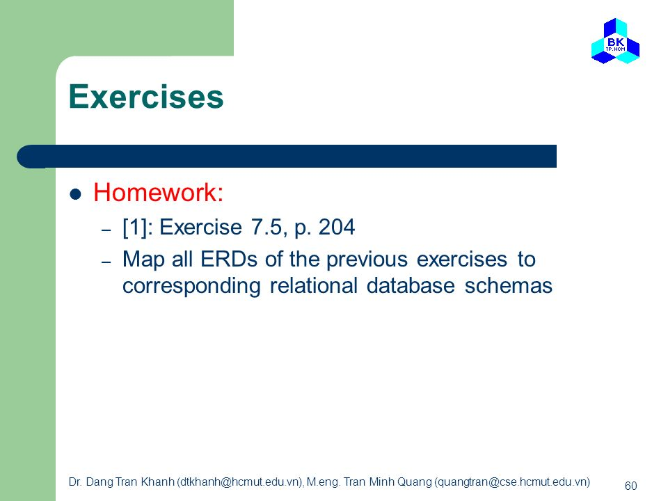 Exercises Homework: [1]: Exercise 7.5, p. 204