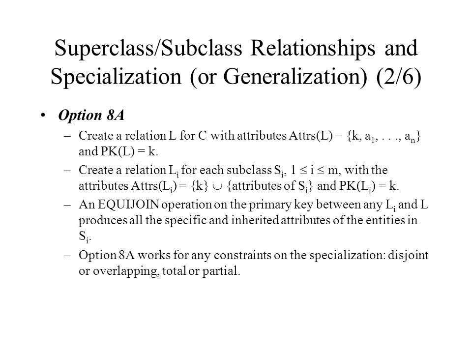 Superclass/Subclass Relationships and Specialization (or Generalization) (2/6)