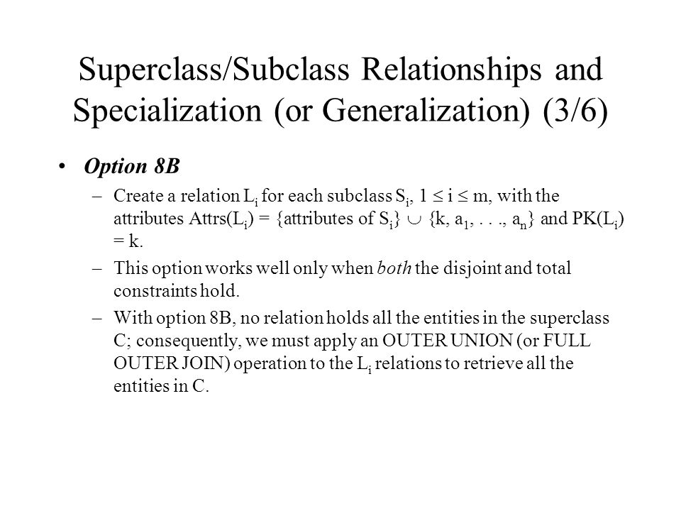 Superclass/Subclass Relationships and Specialization (or Generalization) (3/6)