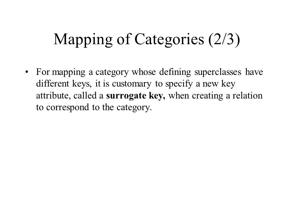 Mapping of Categories (2/3)