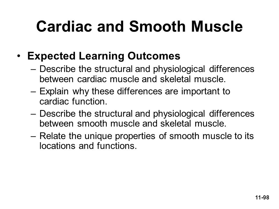 Cardiac and Smooth Muscle