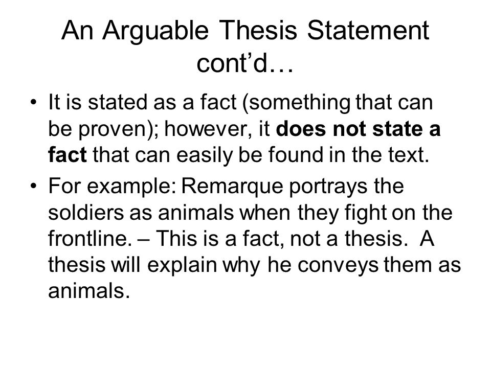 arguable thesis examples