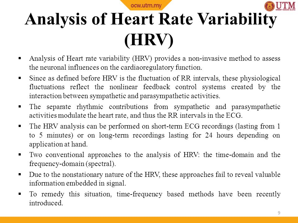 ECG Analysis 3: Heart Rate Variability - ppt video online