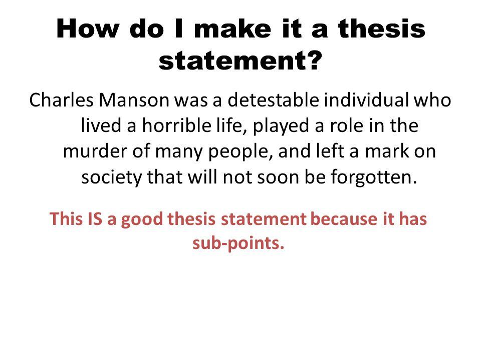 how do you do a thesis