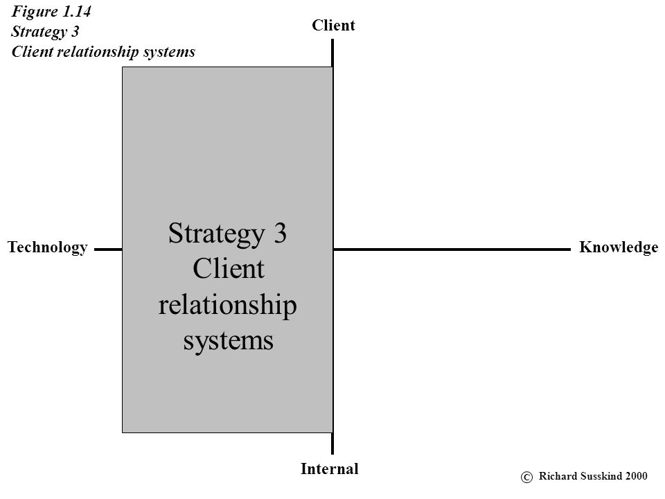 Strategy 3 Client relationship systems Figure 1.14 Strategy 3